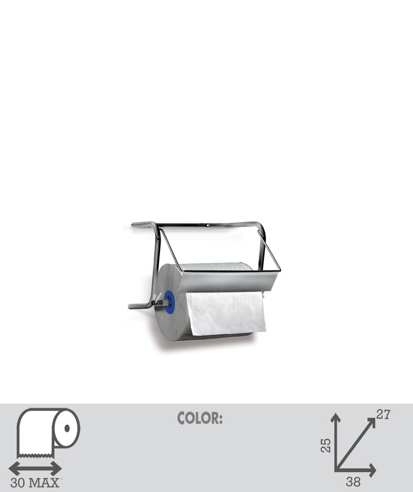 Art. 14 inox. Supporto carta industriale in acciaio Inossidabile 18/10  - 1