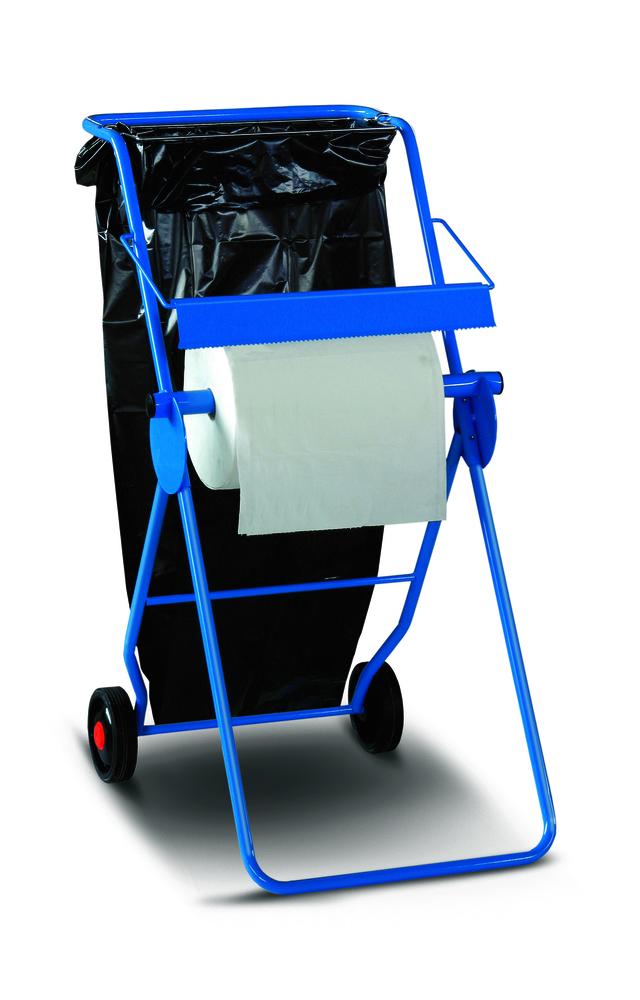 Supporto carta industriale con ruote e porta sacco. Art. 34 - 2