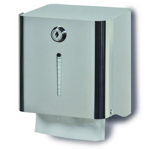 Dispenser carta Igienica interfogliata in acciaio inossidabile. Art. 155 - 1