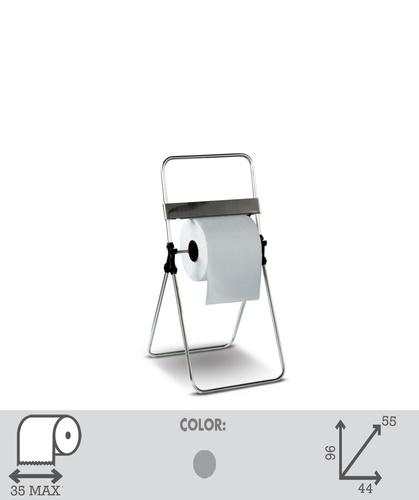 Foldable Industrial Roll / Hand towel  Dispenser Floor Standing  in stainless steel. Art. 30 inox