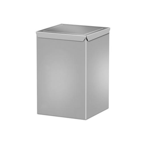 Trash stainless steel wastepaper with swing lid. Art 176