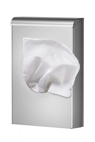 Stainless steel sanitary hygienic bag dispenser wall mount or floor. Art. 55