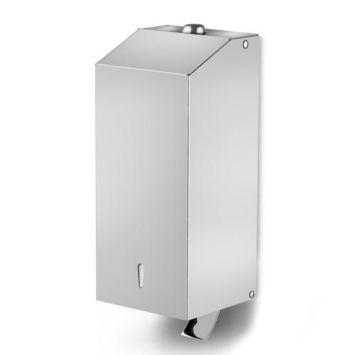 Liquid soap and sanitizing gel dispenser in stainless steel.  Art. 21